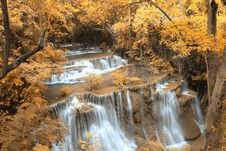 Free Autumn Waterfall In Thailand Royalty Free Stock Image - 29114136