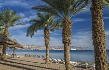 Free Sandy Beach Of Eilat In Israel Stock Photography - 29115872