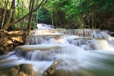 Free Deep Forest Waterfall Royalty Free Stock Photo - 29116965
