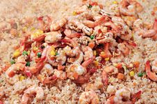 Free Shrimps With Rice Royalty Free Stock Photography - 29117967