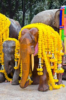 Decorated Elephants Stock Photos