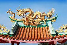 Free Dragon On Temple Stock Photos - 29118393