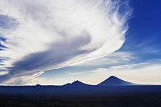 Free Volcanoes At Sunrise Stock Image - 29118791