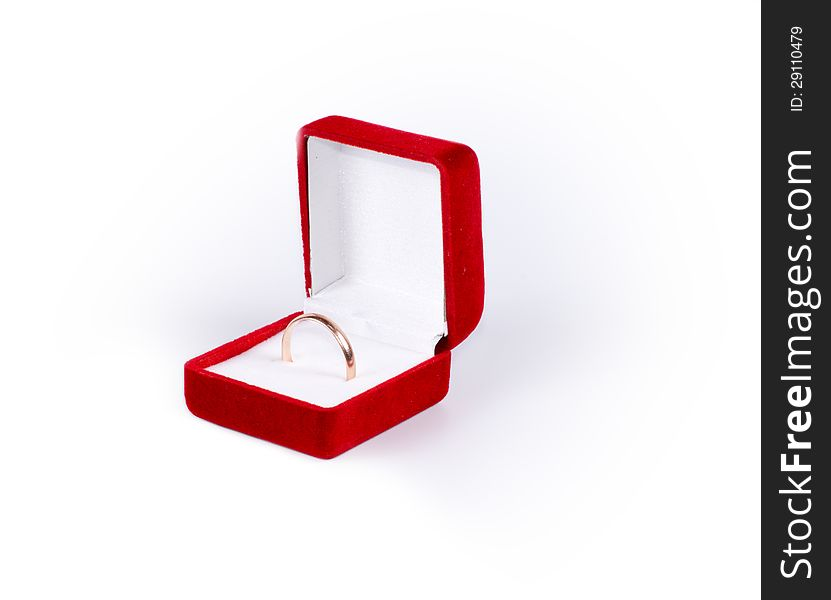 Ring in a jewelry box
