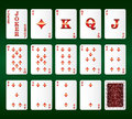 Free Playing Cards Vector. All The Diamonds Royalty Free Stock Image - 29121346