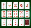 Free Playing Cards Vector. All The Hearts Royalty Free Stock Photos - 29121348
