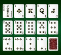Free Playing Cards Vector. All The Clubs Stock Photography - 29121352