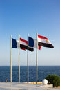 Free Flags On Seaside Royalty Free Stock Photography - 29127807