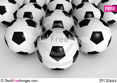 Free Soccer Balls Stock Images - 29120664