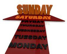 Free Days Week Stock Photo - 29120100