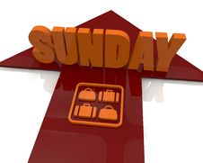 Free Sunday 3d Text Stock Photo - 29120110