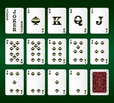 Free Playing Cards Vector. All The Spades Royalty Free Stock Photos - 29121358