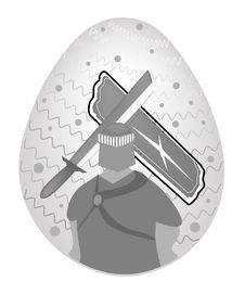 Illustration Of Knight And Armor Painted On Easter Royalty Free Stock Image