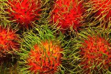 Free Rambutan, Asia Fruit, Thailand Sweet Fruit. Stock Image - 29124311