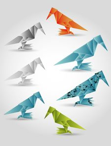 Free Folded Paper Birds Stock Photography - 29126242