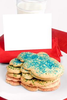 Free Christmas Cookies And Blank Note Stock Photos - 29127943