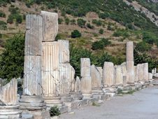 Free Columns Lining An Ancient Street Stock Photo - 29128990