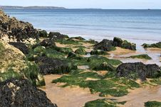 Free Beach Scene In Pembrokeshire South Wales Royalty Free Stock Photo - 29129945
