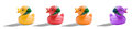 Free Colourful Rubber Duck Banner Stock Photos - 29134933