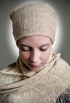 Free Girl In A Scarf Royalty Free Stock Image - 29131336