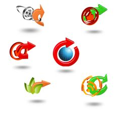 Icons Set For Web Applications. Stock Images