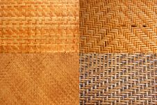 Free Woven Rattan With Natural Patterns. Royalty Free Stock Photo - 29133425