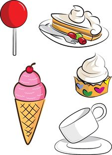 Set Of Dessert Stock Image