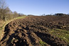 Free Plowed Field Royalty Free Stock Photos - 29137098