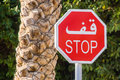 Free Arabic Road Sign Stock Photography - 29140392