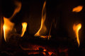 Free Fire In A Fireplace Royalty Free Stock Photography - 29147177