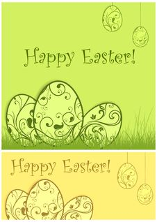 Free Painted Easter Background & Text Stock Photos - 29141483