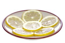 Free Lemons On The Saucer Royalty Free Stock Photos - 29146548