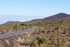 Free Old Road In The Teide National Park Stock Photography - 29146822