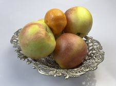 Plate With Fruits Stock Photography