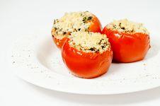 Free Stuffed Tomatoes Stock Photo - 29148250