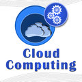 Free Cloud Computing Circles With Text Royalty Free Stock Photo - 29153295