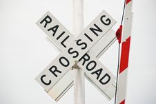 Free Rail Road Crossing Sign Stock Image - 29151821