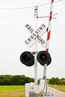 Free Rail Road Crossing Stock Photography - 29151822