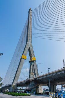 Rama 8 Suspension Bridge. Stock Image