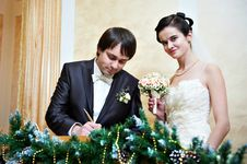Free Solemn Registration Of Marriage Royalty Free Stock Photography - 29152707