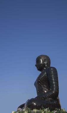 Buddha Statue, Black Statue Royalty Free Stock Photo