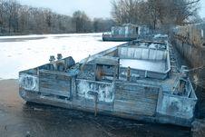 Old Used Ark In Dock Stock Photo