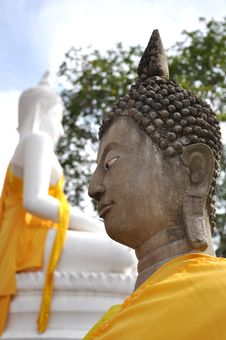 Buddha Statue At The Yaichaimongkon Temple In Thailand Stock Image