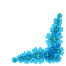 Floral Light Blue Pattern Stock Photo
