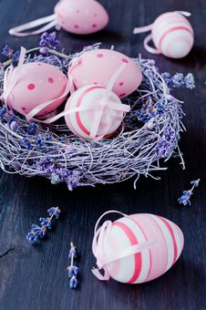 Free Easter Eggs In The Nest Royalty Free Stock Image - 29155706