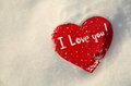Free Heart In The Snow In The Rays Of The Sunset Stock Photos - 29160323