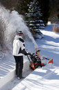 Free Man Using A Snow Blower Royalty Free Stock Photos - 29163068
