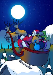 Free Christmas Night Royalty Free Stock Photo - 29160095