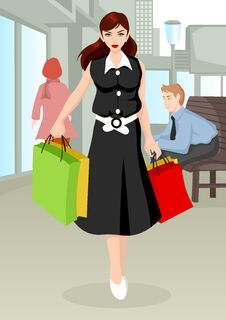 Free Shopping Girl Royalty Free Stock Image - 29160196
