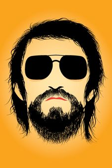 Free Bearded Man Silhouette Royalty Free Stock Photo - 29163235